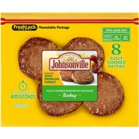 Johnsonville Fully Cooked Breakfast Turkey Sausage Food Product Image