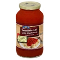 Hill Country Fare Traditional with Mushroom Spaghetti Sauce Food Product Image