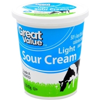 Great Value Sour Cream Light Food Product Image