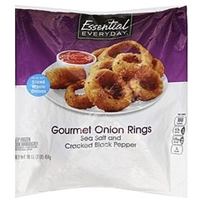 Essential Everyday Onion Rings Gourmet, Sea Salt And Cracked Black Pepper Food Product Image