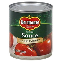 Del Monte Tomato Sauce No Salt Added Food Product Image