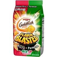 Pepperidge Farm Goldfish Mix-Up Adventures Parmesan & Xplosive Pizza Baked Snack Crackers Food Product Image