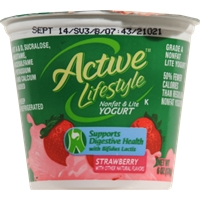 Active Lifestyle Strawberry Yogurt Food Product Image