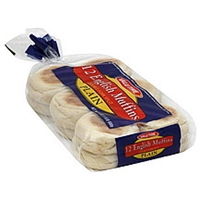 Valu Time English Muffins Plain Food Product Image