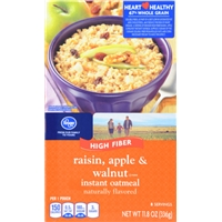 Kroger Raisin Apple & Walnut Oatmeal Food Product Image