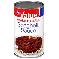 Kroger Spaghetti Sauce Roasted Garlic Food Product Image