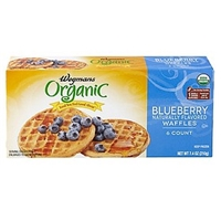 Wegmans Frozen Pancakes & Waffles Blueberry Naturally Flavored Waffles Food Product Image