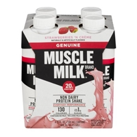 Muscle Milk Protein Nutrition Shake Strawberries 'N Creme - 4 CT Food Product Image