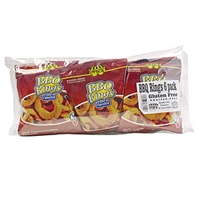 Paskesz Beef Bbq Rings, Bbq Flavored Food Product Image