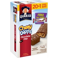 Quaker Chewy Dipps Chocolate Chip Granola Bars 21 ct Box Food Product Image