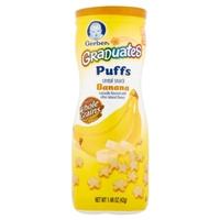 Gerber Graduates Puffs Cereal Snack Banana Food Product Image