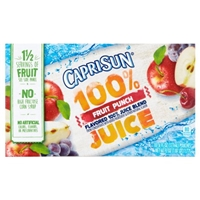 Capri Sun 100% Juice Fruit Punch - 10 CT Food Product Image