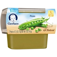 Gerber All Natural 1st Foods Peas - 2 PK Food Product Image