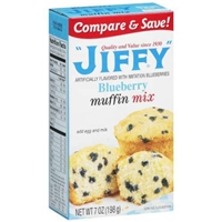 Jiffy Blueberry Muffin Mix Food Product Image