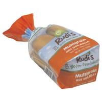 Rudi's Gluten-Free Bakery Multigrain Hotdog Buns Food Product Image