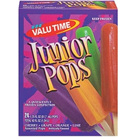 Valu Time Popsicles Junior Assorted 24 Ct Food Product Image