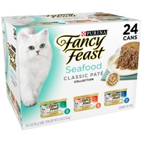 Purina Fancy Feast Seafood Feast Variety Classic Gourmet Cat Food - 24 CT Food Product Image