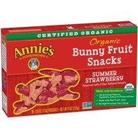 Annie's Homegrown Organic Bunny Summer Strawberry Fruit Snacks - 5 CT Food Product Image