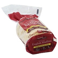 Signature English Muffins Extra Crisp Food Product Image