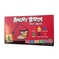 Angry Birds Angry Birds, Fruit Snacks, Cherry, Lemon, Raspberry, Apple, Grape, Strawberry Food Product Image