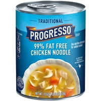 Progresso Traditional 99% Fat Free Chicken Noodle Soup Food Product Image