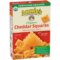 Annie's Organic Cheddar Squares Food Product Image