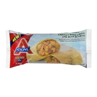 Atkins Chicken with Cheese and Bean Burrito Food Product Image