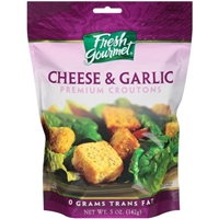 Fresh Gourmet Premium Croutons Cheese & Garlic Food Product Image