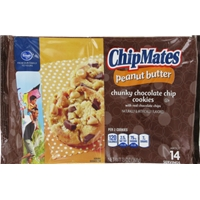 Kroger ChipMates Peanut Butter Chunky Chocolate Chip Cookies Food Product Image