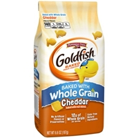 Pepperidge Farm Goldfish Baked Snack Crackers Whole Grain Cheddar Food Product Image