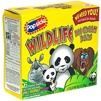 Popsicle Wildlife Ice Cream Bars Panda Shaped Food Product Image