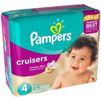 Pampers Cruisers Diapers Size 4 - 24 CT Food Product Image