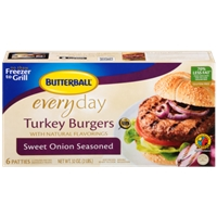 Butterball Everyday Turkey Burgers Sweet Onion Seasoned - 6 Ct Food Product Image