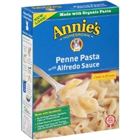 Annie's Homegrown Penne Pasta with Alfredo Sauce Food Product Image
