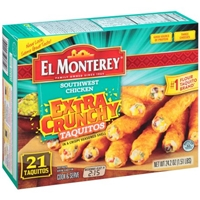 El Monterey Extra Crunchy Taquitos Southwest Chicken - 21 CT Food Product Image