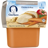 Gerber 2nd Foods Chicken & Rice - 2 CT Food Product Image
