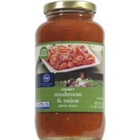 Kroger Mushroom & Onion Chunky Spaghetti Sauce Food Product Image