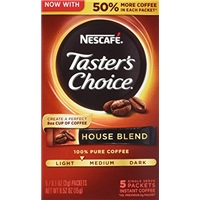 Nescafe Nescafe, Taster's Choice, House Blend Coffee Allergy and Ingredient Information