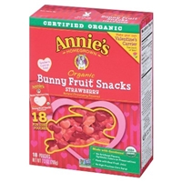 Annie's Organic Strawberry Fruit Snacks 7.3 oz Food Product Image