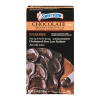 Sweet 'N Low Whipped Frosting & Fudge Topping Mix Chocolate Food Product Image