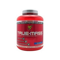 BSN Inc. True-Mass Powdered Mass Gainer Drink Mix Vanilla Ice Cream Food Product Image