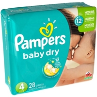 Pampers Baby Dry Size 4 Sesame Street Diapers - 28 CT Food Product Image