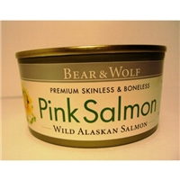 Bear & Wolf Premium Skinless & Boneless Pink Salmon Food Product Image