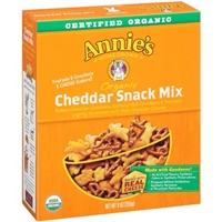 Annie's Homegrown Organic Cheddar Snack Mix Food Product Image