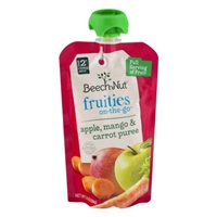 Beech-Nut Fruities On-The-Go Apple, Mango & Carrot Puree Stage 2 Food Product Image