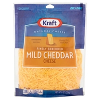Kraft Natural Cheese Finely Shredded Mild Cheddar Food Product Image