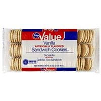Kroger Cookies Sandwich, Vanilla Food Product Image