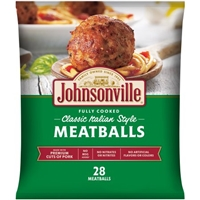 Johnsonville Meatballs Classic Italian Style Food Product Image