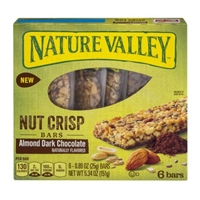 Nature Valley Nut Crisp Bars Almond Dark Chocolate - 6 CT Food Product Image