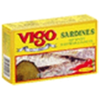 Vigo Spanish Sardines Hot Spiced, In Soy And Olive Oil Food Product Image